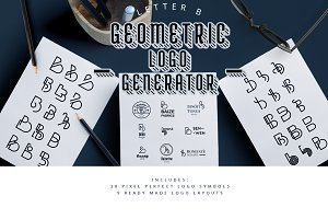 "Geometric Logo Generator - ""B"""