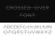 Crossed over font - alphabet set.