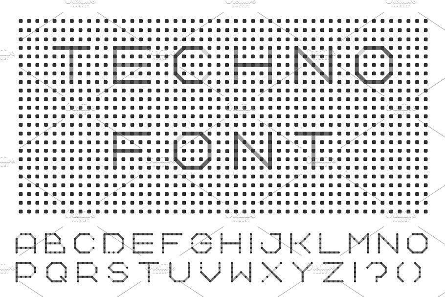 Minimalistic font - english alphabet ~ Illustrations ~ Creative Market