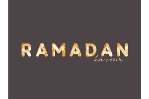 Beautiful lettering Ramadan Kareem. Holy month of Ramadan