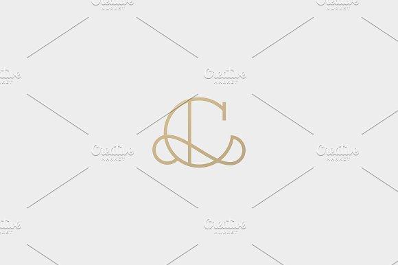 Elegant Line Curve Vector Logotype Premium Letter C Logo Design
