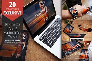 20 PSD Mockups Bundle Exclusive