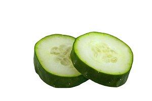 cucumber slice isolated