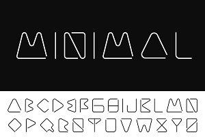 Creative minimalistic font. B&W
