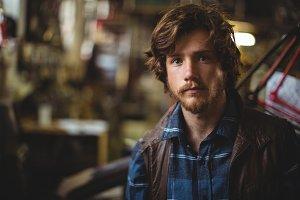 Portrait handsome mechanic