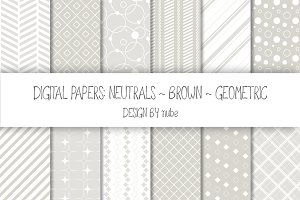 Geometric Seamless Patterns - Cream
