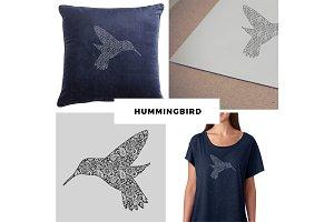 Paisley Hummingbird Vector