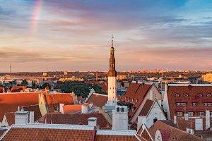 Tallinn in sunset light