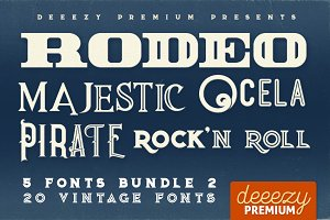 5 Fonts Bundle 2