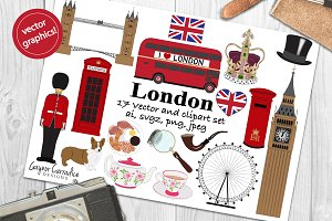 London Clipart and Vector set