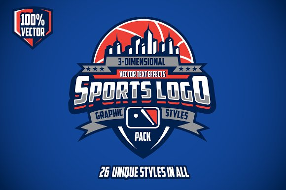 3d sports logo graphic styles pack add ons creative market