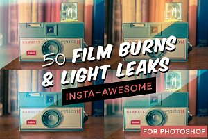 50+ Film Burns & Light Leaks