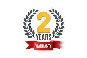 Two Years Warranty background.