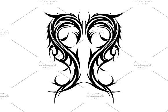 Abstract Hand Drawn Tribal Tattoo