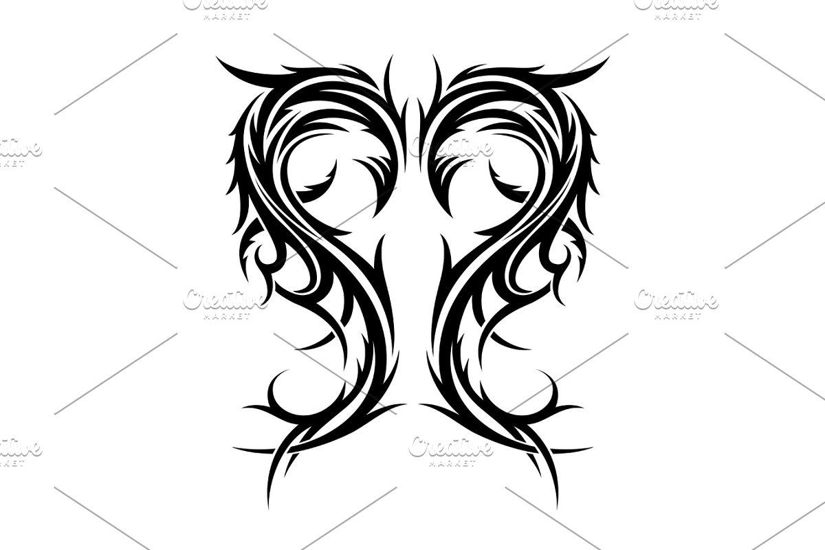 145614dfd1b02 Abstract hand drawn tribal tattoo. ~ Illustrations ~ Creative Market