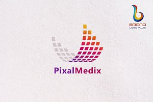 Data Pixel Logo Design Templates