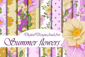 Summer flowers patterns
