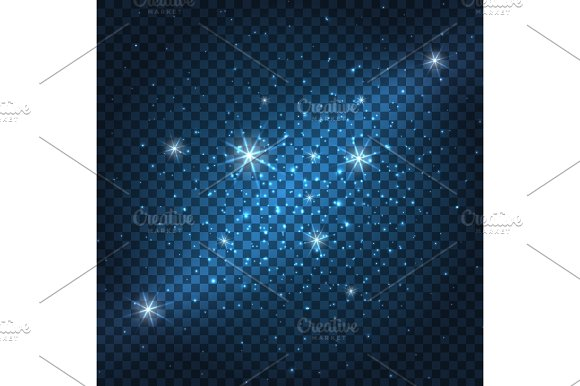 Galaxy Sparkly Blue Background