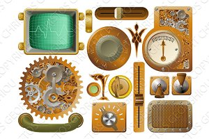 Victorian Steampunk design elements
