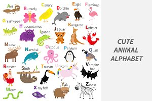 Cute animal alphabet.