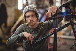 Portrait of confident mechanic