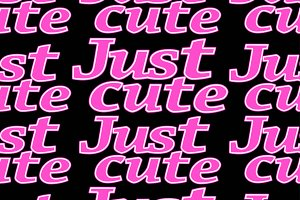 Neon Just Cute Letters Seamless Pattern