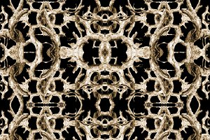 Interlace Dark Ornate Seamless Pattern