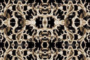 Interlace Dark Ornate Seamless Pattern