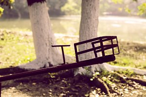 Lonely Seesaw in the Park