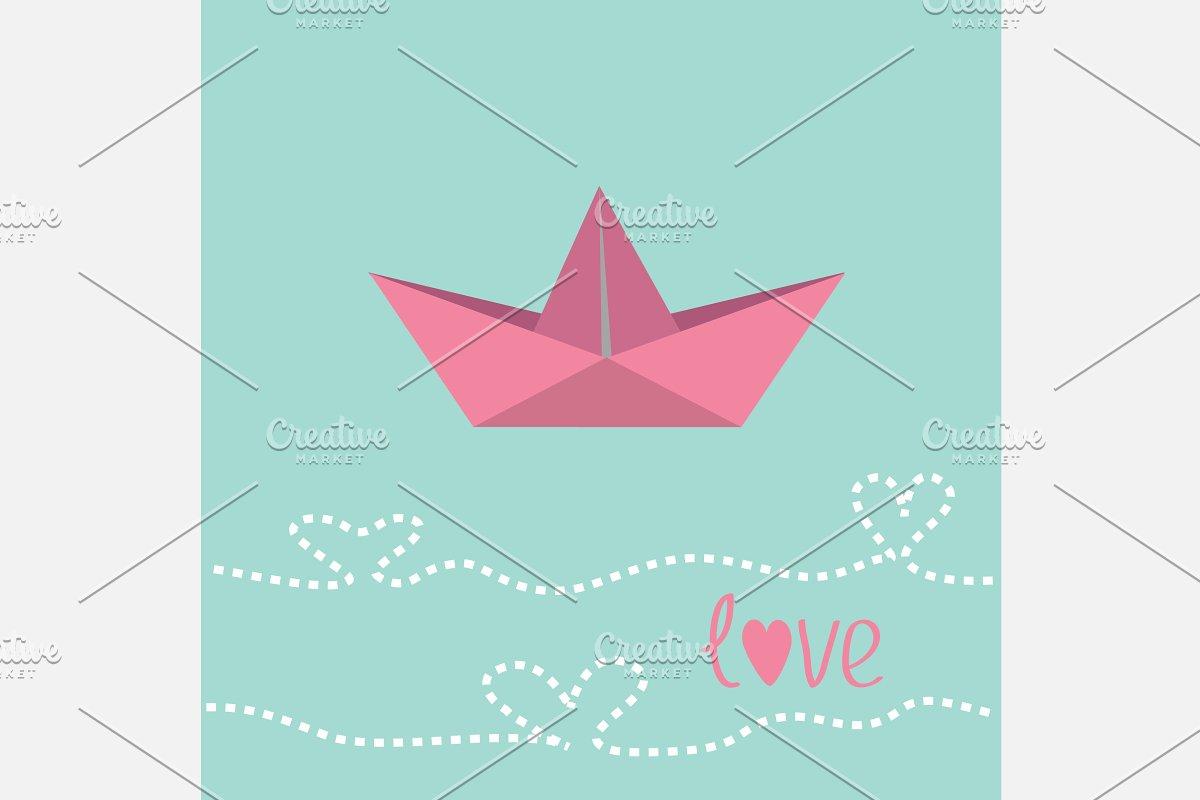 Origami Paper Boat Flat Design Illustrations Creative Market