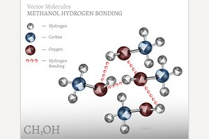 Methanol Molecule Bonding
