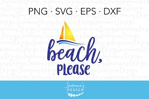 Beach, Please SVG Cut File