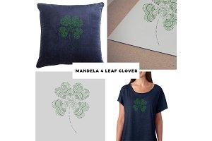 Mandela 4-Leaf Clover Vector