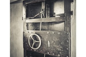 Rusty metal door