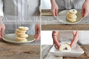 Woman's Hands Plating Cookies