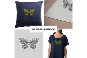 Whimsical Butterfly Vector