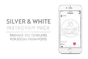 Silver + White Insta Pack