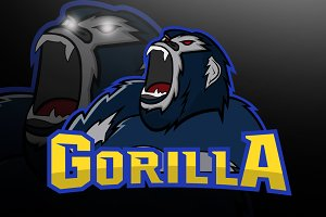 Gorilla logo maskot