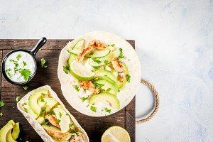 Fresh healthy tacos
