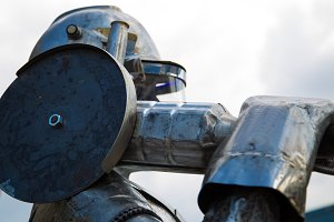 Metal symbol - working metal worker