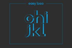 letter G H I J K L logo alphabet