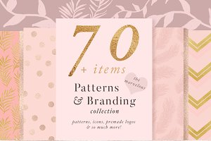 70+ Items- Pattern & Branding Kit