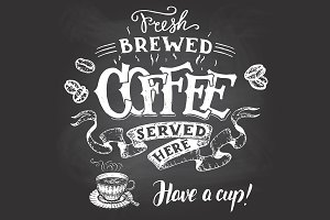 Coffee Chalkboard Signs Set