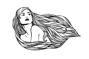 Long-haired girl