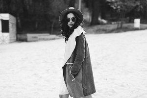 Beautiful hippie woman.