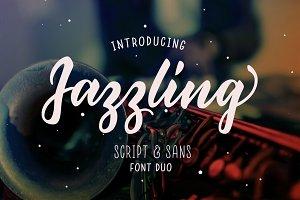 Jazzling Script & Sans - Font Duo
