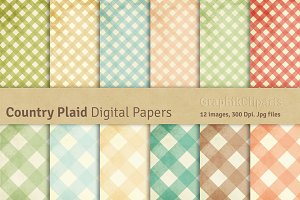 Country Gingham Scrapbook Papers Pre Designed Photoshop Graphics Creative Market