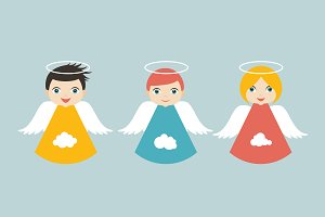 Angels cartoon illustration