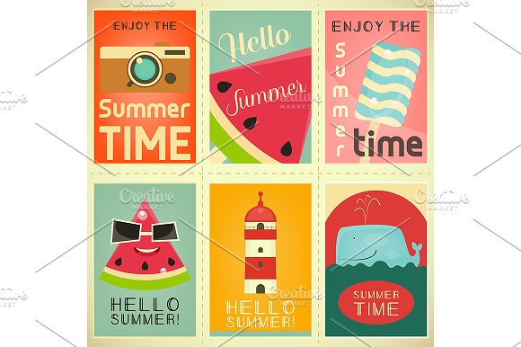 Summer Time Posters Set 3