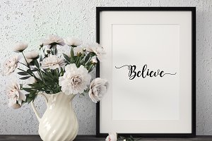 Believe Vinyl Cut File